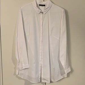 Lafayette white button down